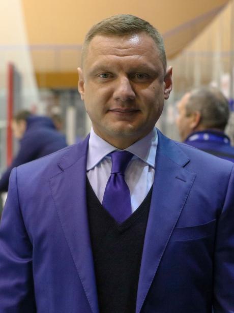 Тренер команды Высшей хоккейной лиги «Динамо» (Тверь) Андрей Заболотнев.