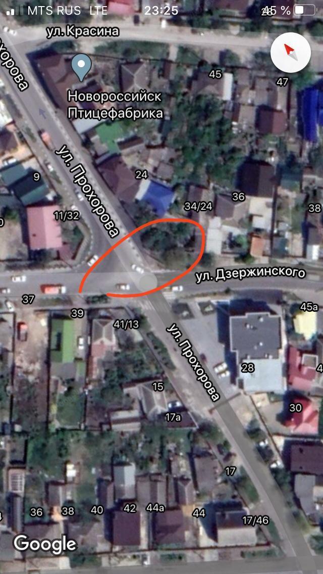 Место на карте, где обнаружили бункер.