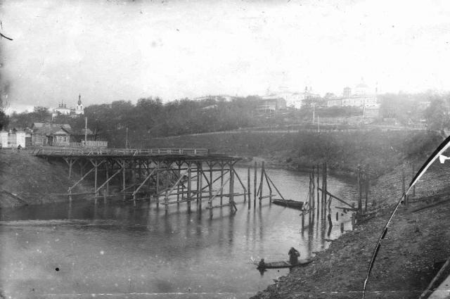 Мост на Пески в 50-ые годы ХХ века
