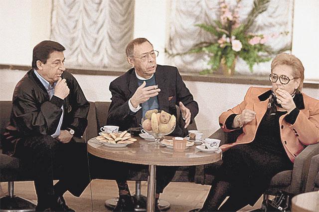 Трио единомышленников - Игорь Кваша (слева), Олег Ефремов и Галина Волчек
