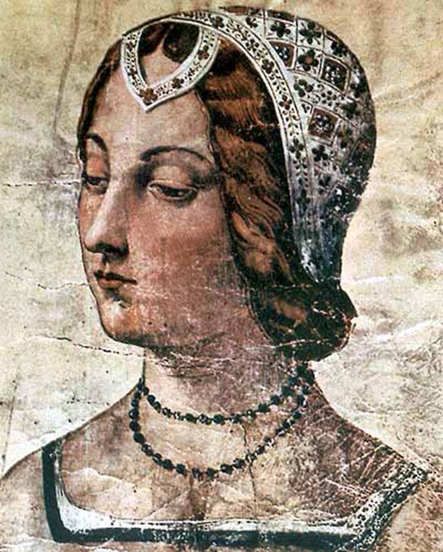 Лаура, рисунок XV века (?) Библиотека Лауренциана.