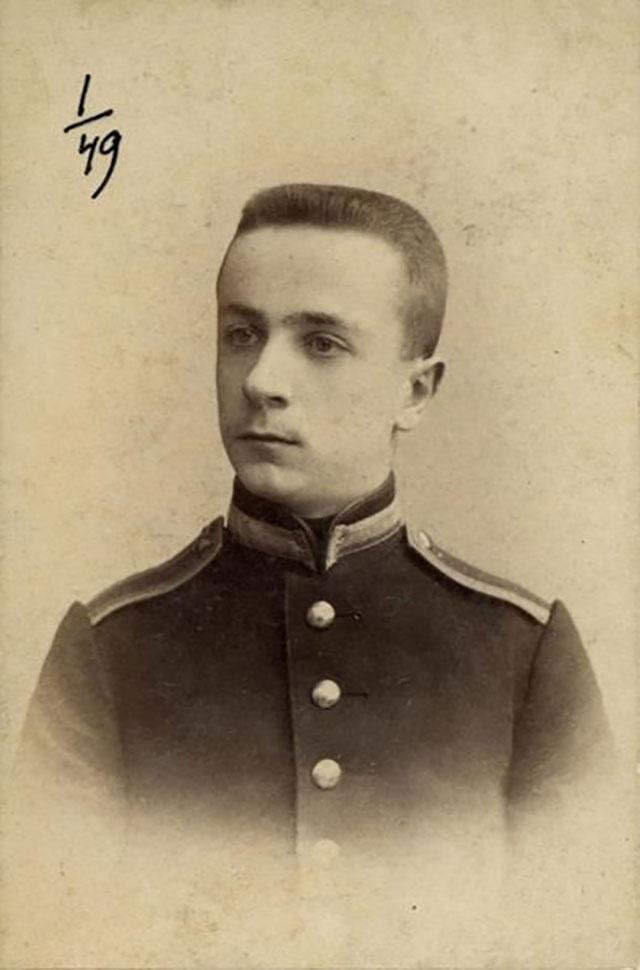 Кадет Владимир Май-Маевский, 1893 г.