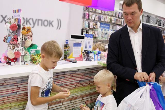 На выходных Дегтярёв с сыном отправился в Планетарий.