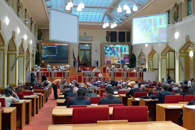 Зал заседаний городского совета Праги.