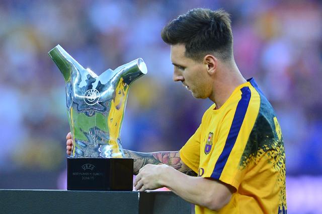 Месси признан лучшим футболистом Европы сезона 2014/2015.