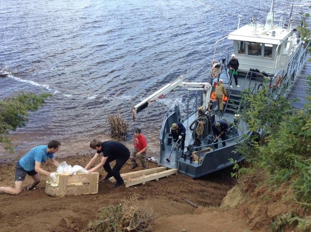 Находки перевозили в Пермь по реке.