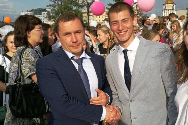 Константин Горбунов с мэром Иркутска.