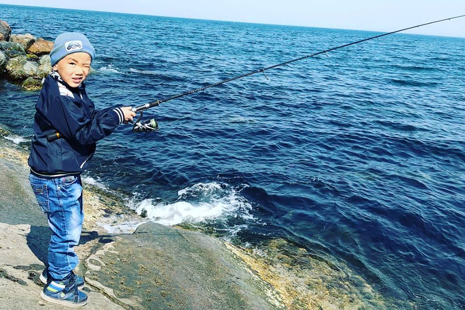 Первая рыбалка в новой жизни Руслана.