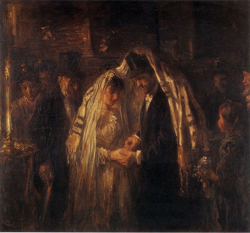 Йозеф Исраэлс. Еврейская свадьба.
