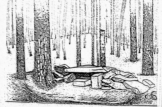 Анатолий Архипович скрупулёзно зарисовывал найденные памятники.