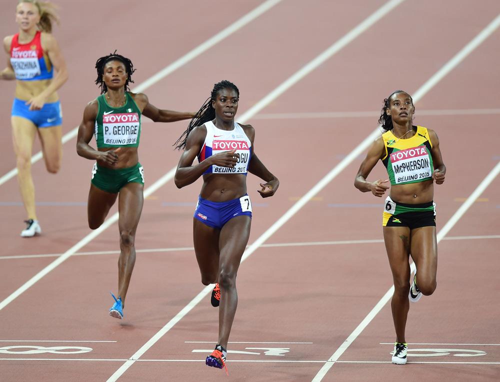 Женский полуфинал в беге на 400 м на ЧМ в Пекине