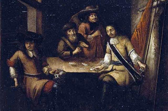 Беседа Петра I в Голландии. Неизвестный голландский художник. 1690-е гг. ГЭ