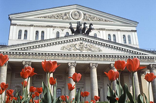 Тюльпаны у Большого театра, 1971 год