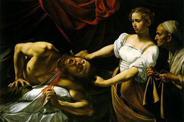 «Юдифь и Олоферн». Караваджо, 1599 год. Национальная галерея старинного искусства, Рим.