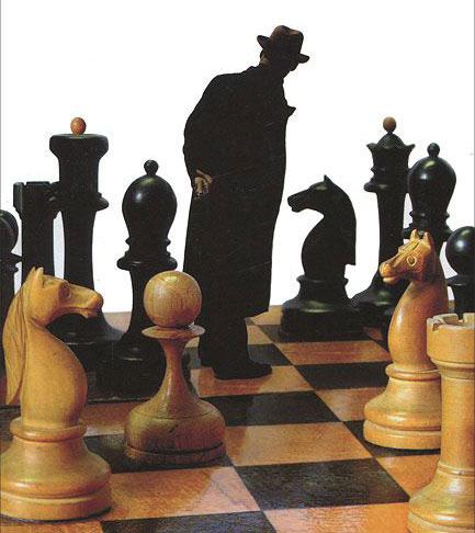 Фрагмент иллюстрации к обложке романа Владимира Набокова Защита Лужина