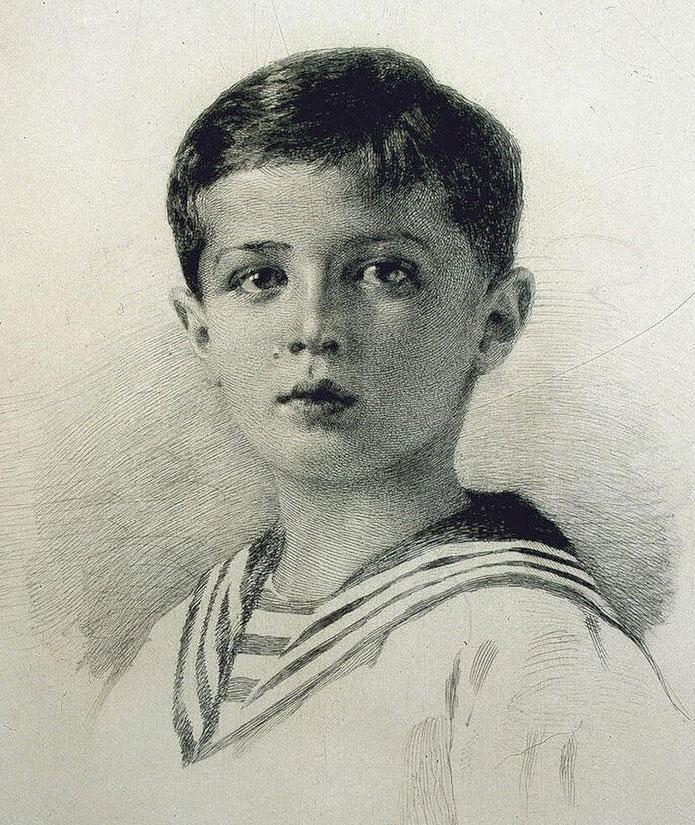 Портрет цесаревича Алексея.