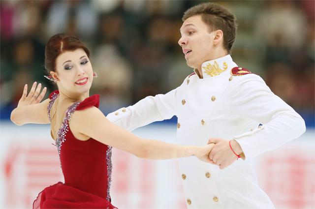 Екатерина Боброва в паре с Дмитрием Соловьевым.