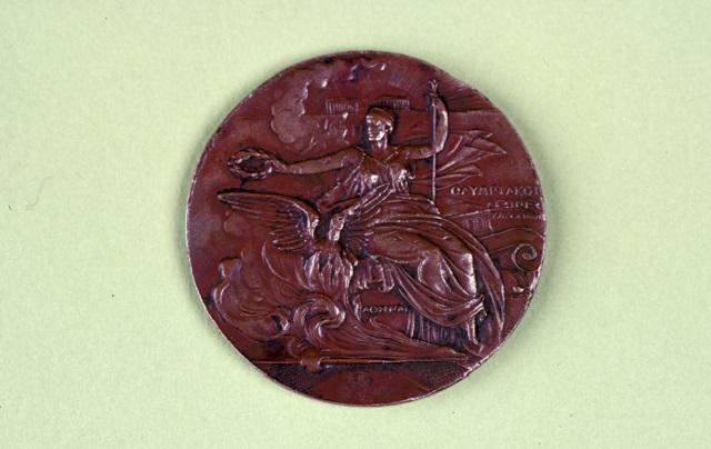 Медаль I Олимпийских игр (Игры I Олимпиады, I Международные Олимпийские игры) в Афинах в 1896 году.