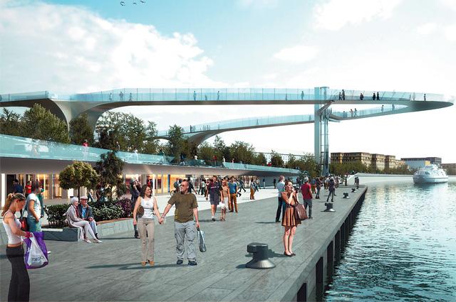 «Парящий» мост можно будет увидеть уже весной.
