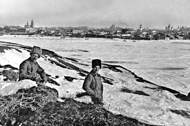 Чехословацкие легионеры на реке Миасс, 1918 год.