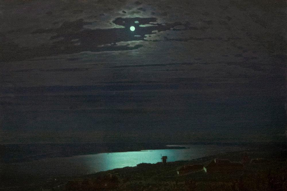 лунная ночь на днепре, куинджи