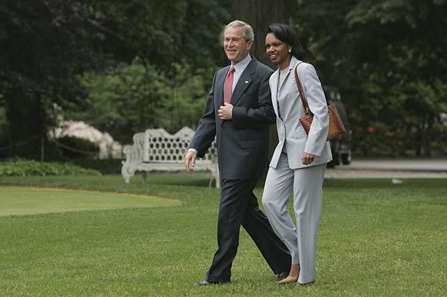 Кондолиза Райс и Джордж Буш-младший, май 2006 года