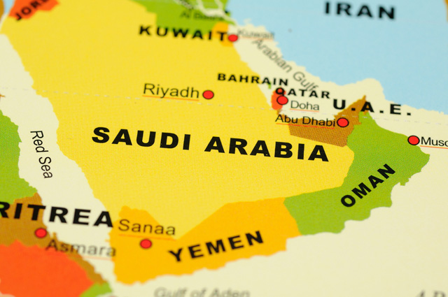 Саудовская Аравия, карта