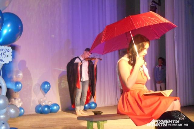 Алексей Юдин и Камила Тухтабаева на творческом конкурсе.