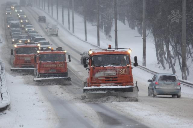 Снегопад на дорогах.