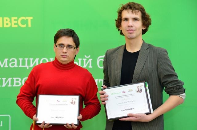 Лауреат премиии Тимур Сазонов и призёр Станислав Падалка.
