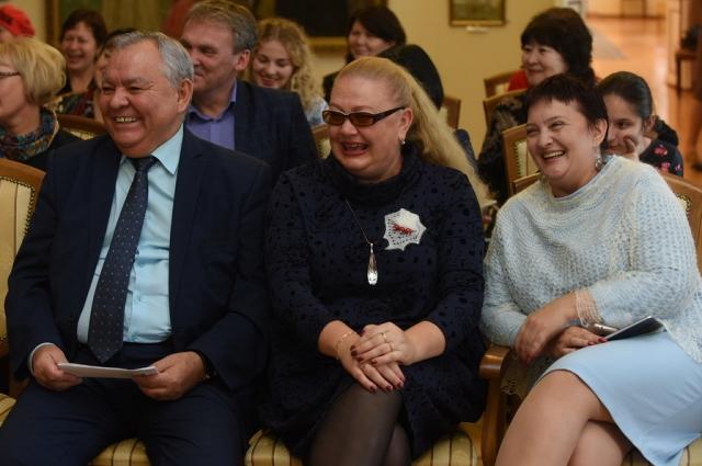 Павел Церемпилов, Юлия Учватова и Анна Жураковская на презентации проекта.