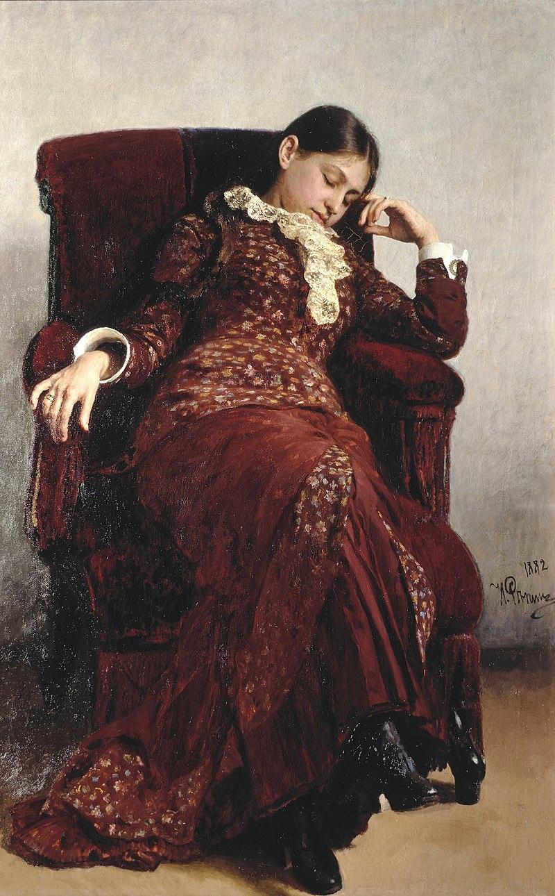 Отдых. Вера Репина, в девичестве Шевцова. Первая жена художника.