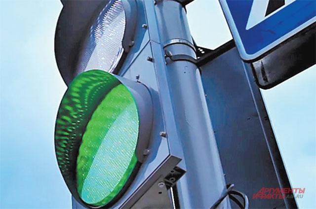 У светофора на ул. Лодочной заменили светодиодные матрицы.