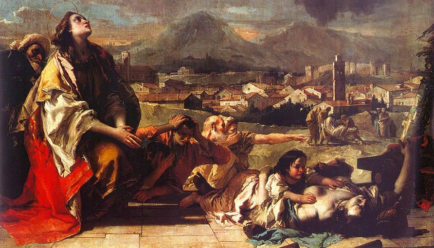 Джованни Баттиста Тьеполо. Святая Текла освобождает город Эсте от чумы.