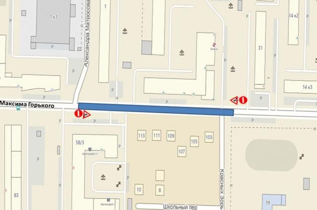 На улице Максима Горького в Тюмени ограничат движение транспорта на месяц.