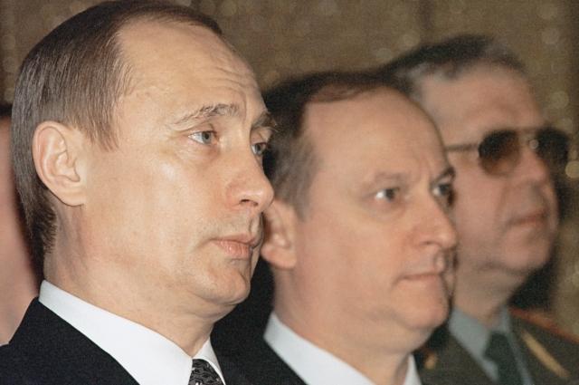 Владимир Путин и Николай Патрушев, 2003 г.