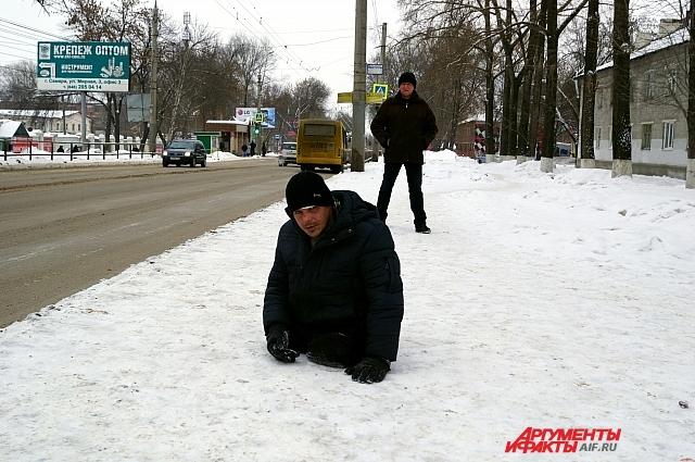 Ожидание троллейбуса на проспекте Кирова
