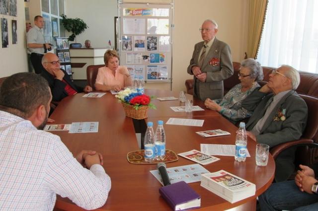 Одним из главных пунктов визита стала встреча с ветеранами.