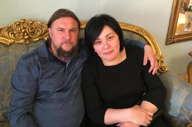 С матушкой Ксенией.