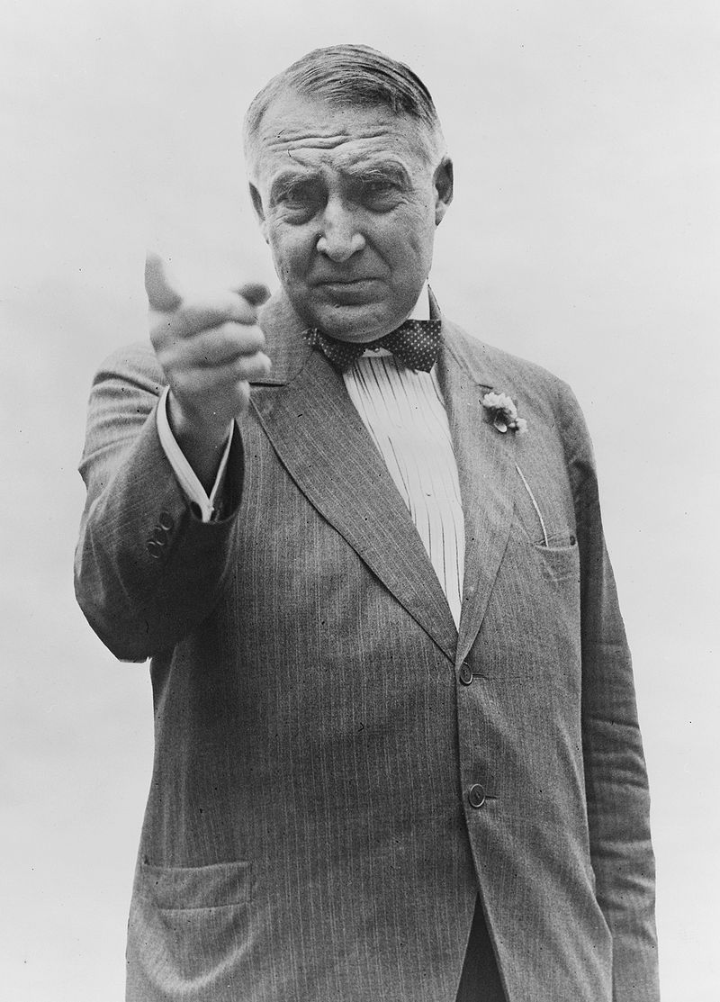 Уоррен Гардинг во время избирательной кампании.