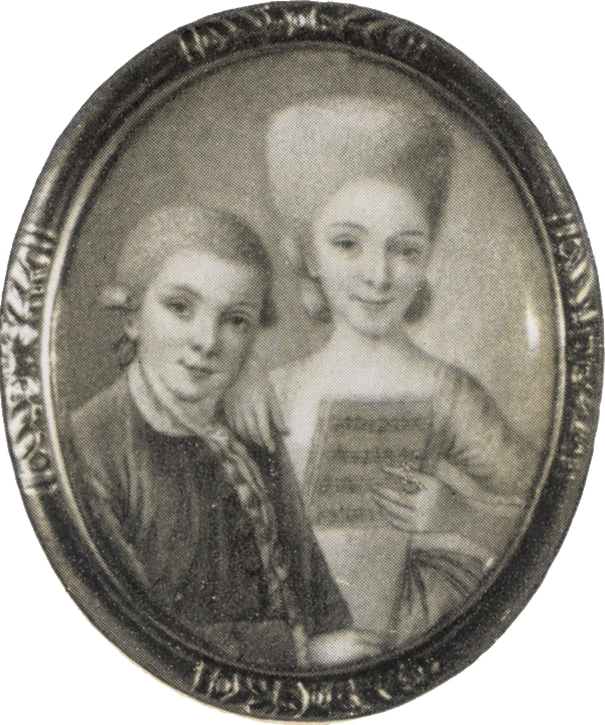 Вольфганг Моцарт и Мария Моцарт. Не позднее 1770 года