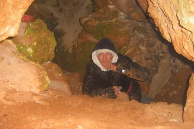 Пещера в Ичалковском бору.
