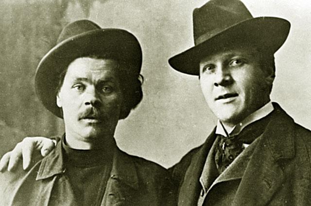 Писатель Алексей Максимович Горький и певец Федор Иванович Шаляпин. 1903 год