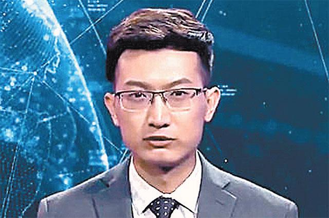 Виртуального телеведущего трудно отличить от живого человека.