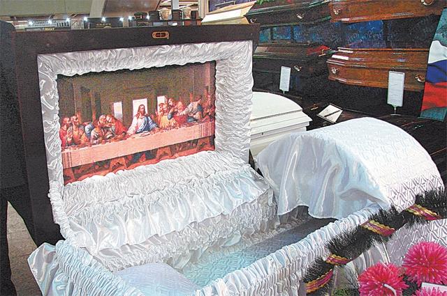 Хит сезона: в последний путь – в гробу, украшенном фреской Леонардо да Винчи «Тайная вечеря».