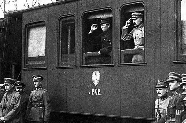 Симон Петлюра и Юзеф Пилсудский. Винница. 1920
