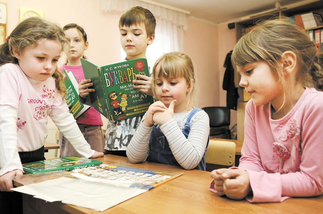 первоклассники, дошкольники, в первый класс