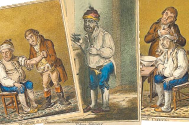 Медицинские карикатуры британского художника Джеймса Гилрея