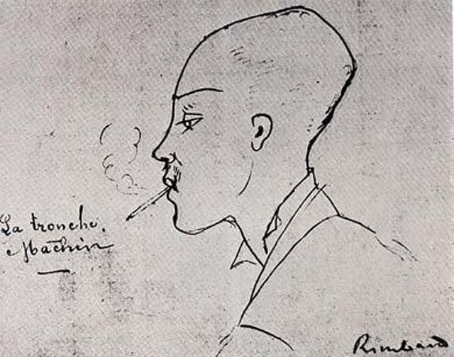 Артюр Рембо в середине декабря 1875 года. Рисунок Эрнеста Делаэ.