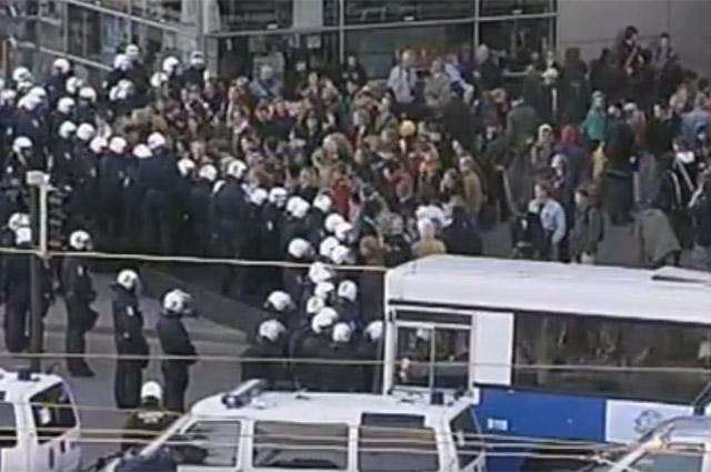 Протесты в Финляндии.